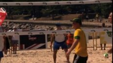 Prince Harry playing beach volleyball in Rio de Janeiro