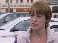 Crazy lady driver fights for parking space