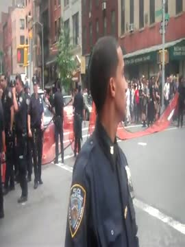 Unbelievable protest footage. NYPD drag girl across the stre