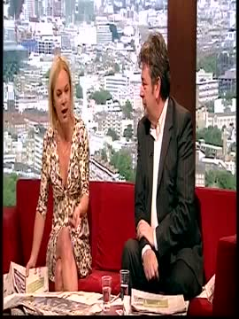 Mariella Frostrup jiggles her breasts (Andrew Marr Show, 13