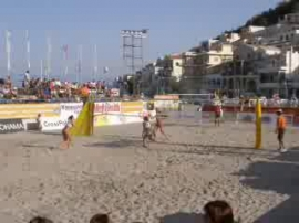 Beach Volley finals - Kalymnos island Greece - August 2007