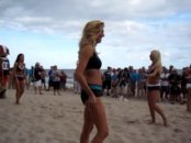 Battle Of The Beauties NFL Pro Bowl Cheerleaders compete in Beach Volleyball